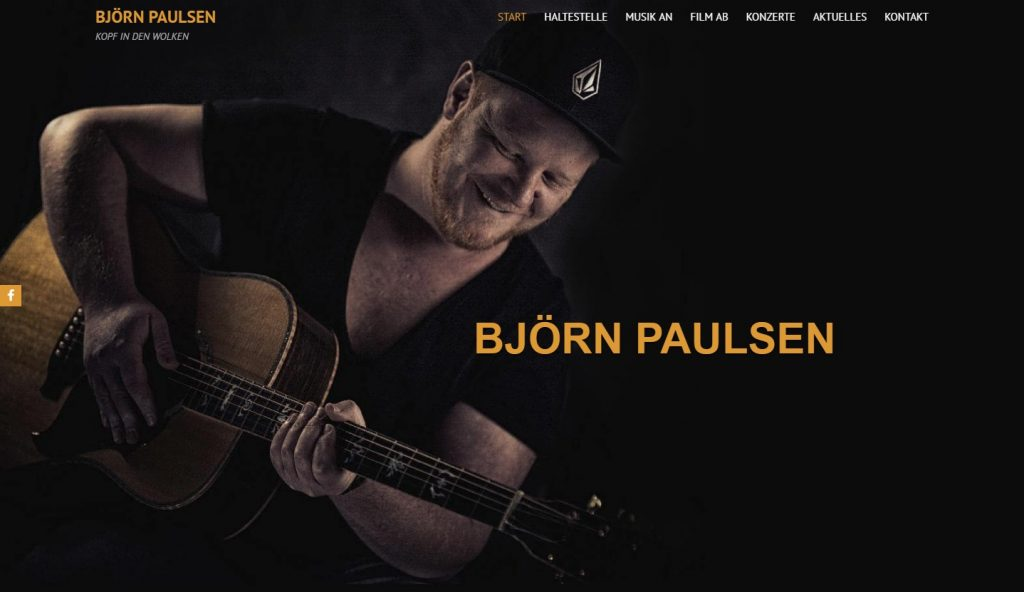 Homepage für Musiker - paulsen-live.de