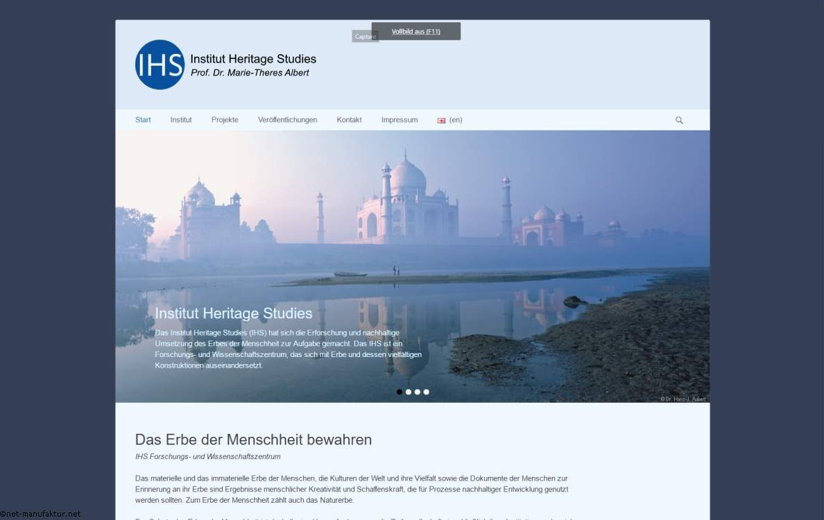 Homepage für Institute und Wissenschaft - hertiagestudies.eu
