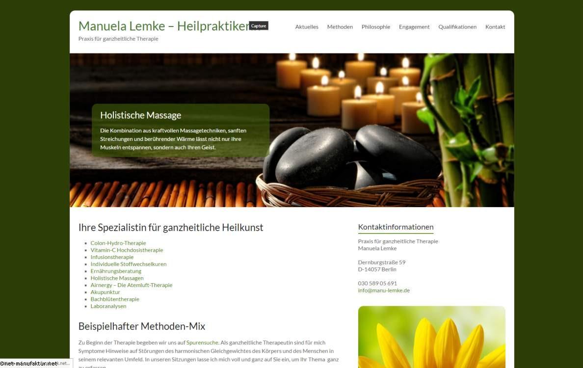 Homepage für Gesundheitsberufe - manu-lemke.de