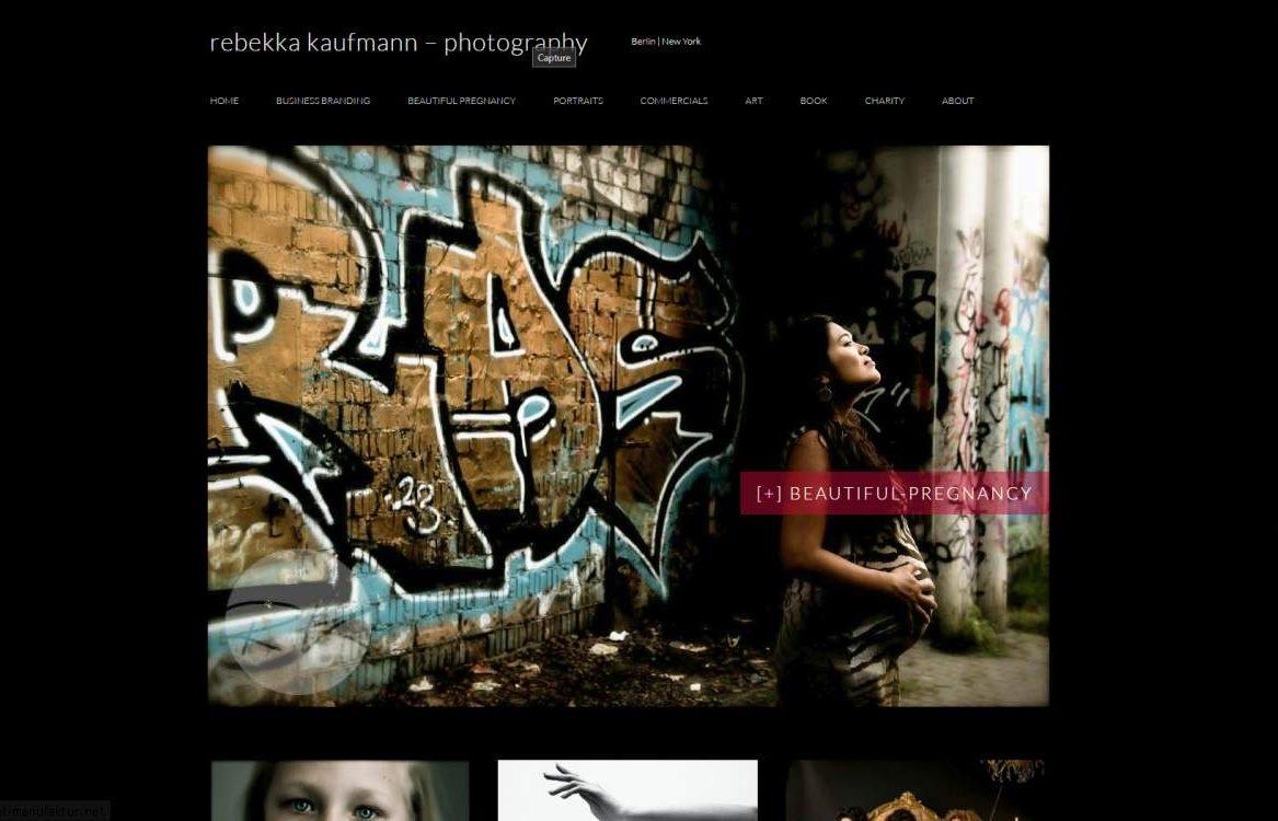 Homepage für Photograf*Innen - rebekkakaufmann.com