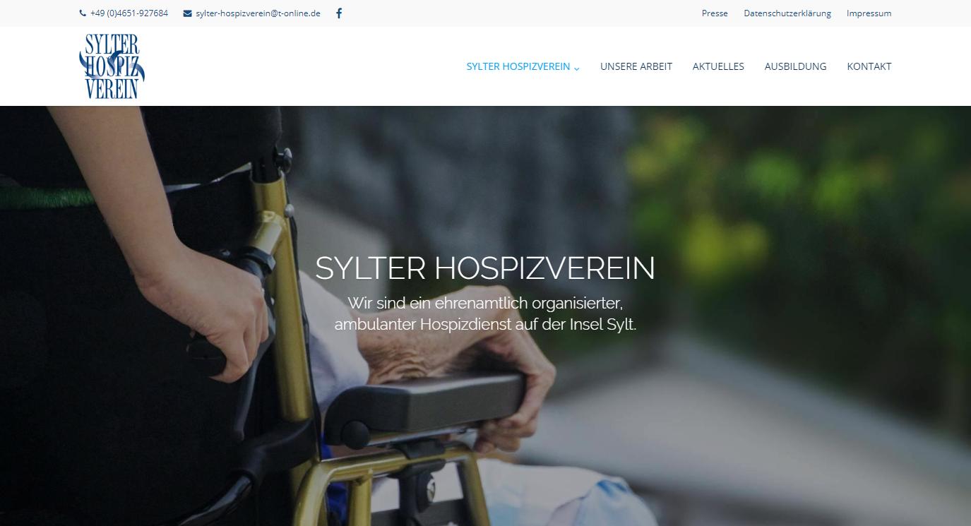 Titelbild der Webseite hospizverein-sylt.de
