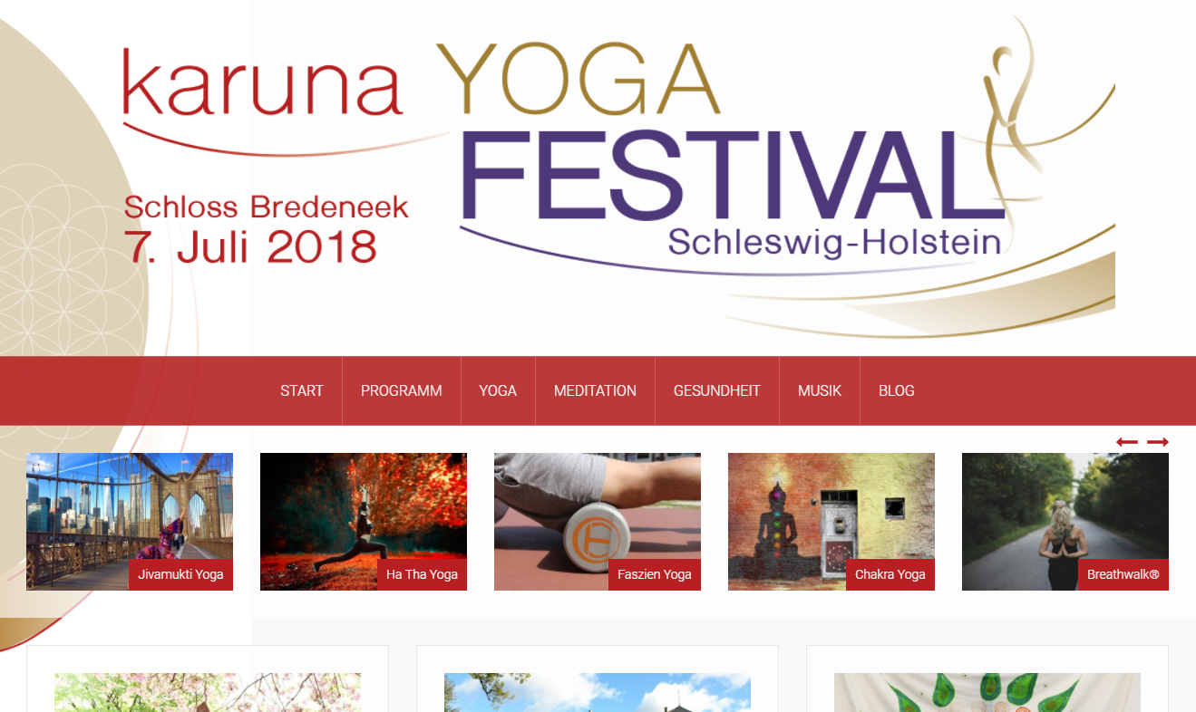 Karuna Yoga und Musikfestival.de