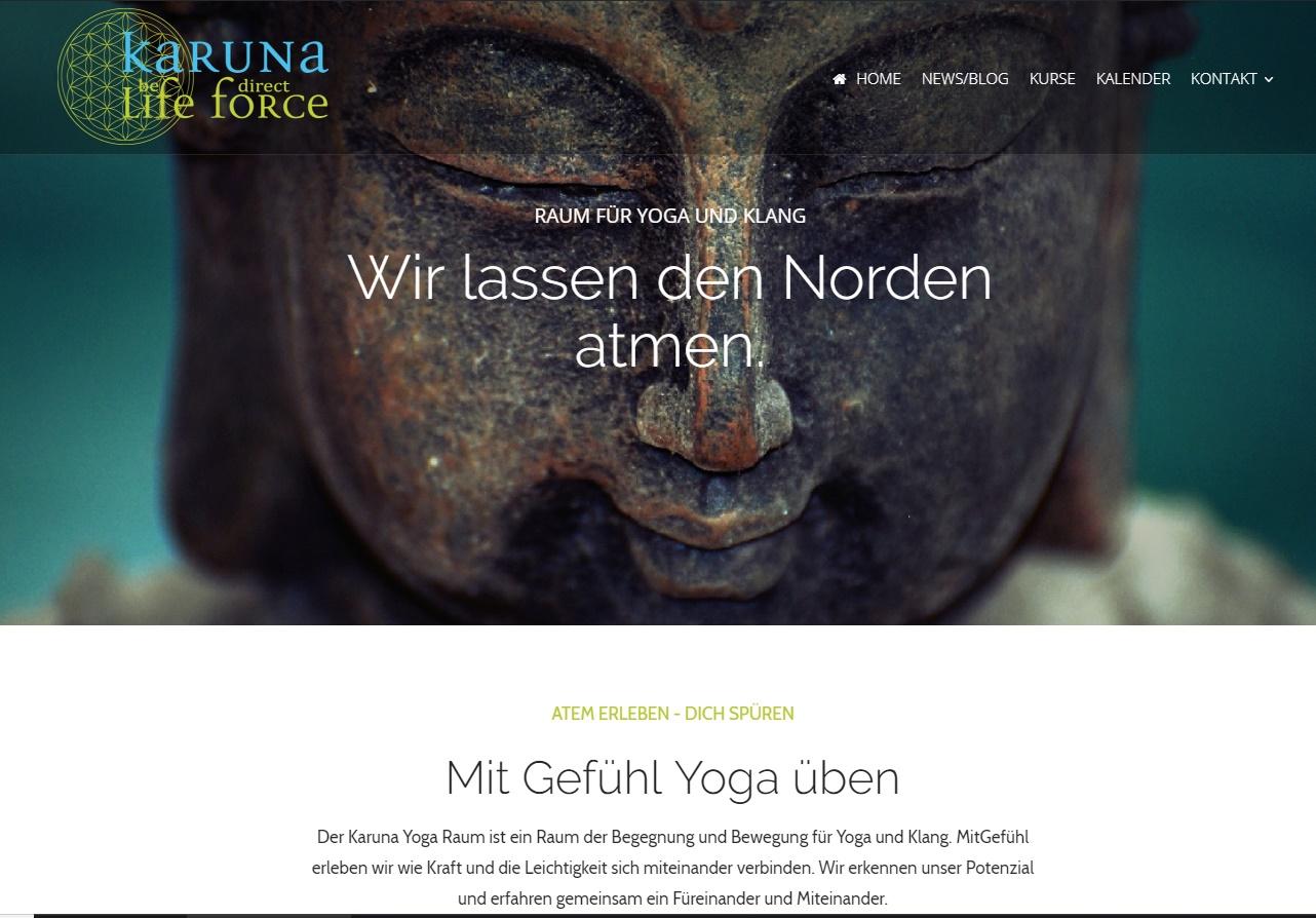 karunalifeforce.de Yoga mit Gefühl üben